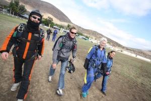 skydive calmly walking