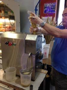 making sugar cane juice